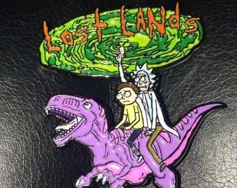 Rick and Morty Lost Lands Pin Set Excision Festival