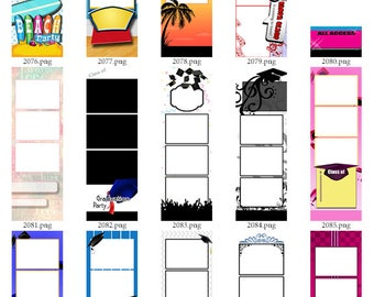 30 Photo Strip Templates for Photo Booths | 2061-2090