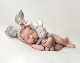 Newborn Bunny Set - Bunny Bonnet - Bunny Lovie - Pre Order