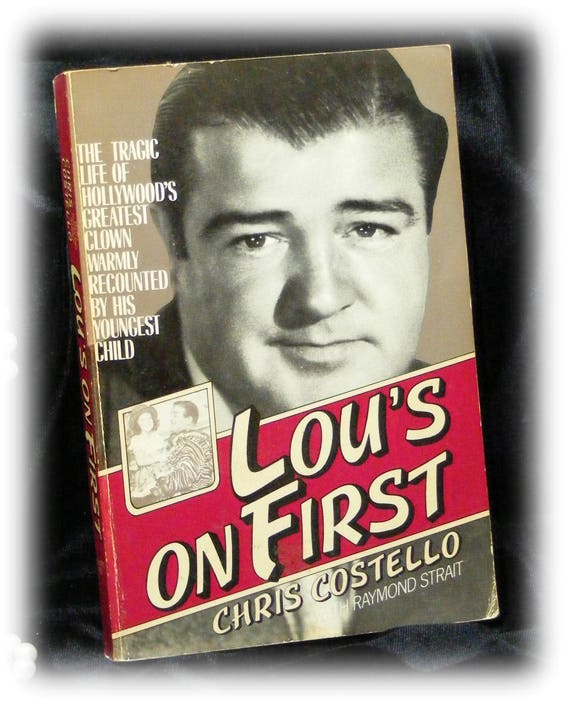 LOU'S ON FIRST . . Paper Back Biography of Lou's Tragic Life by Chris Costello