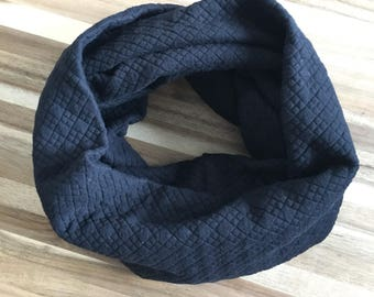 Black Quilted Kid's Infinity Scarf