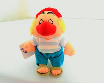"Disney Beanbag Plush ""Mr. Smee"" From The Movie ""Peter Pan""/Oh Dear Oh Dear/New With Tags/Big Red Nose & Turquoise Pants With Sandals"