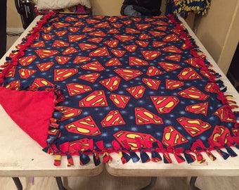 Superman logo fleece blanket