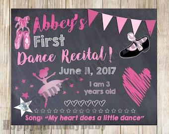 Dance Recital Chalkboard