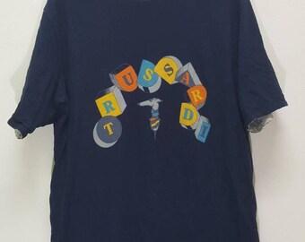Vintage Trussardi reversible shirt spellout
