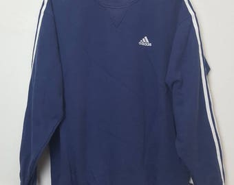 Vintage Adidas Equipment small logo three stripes sweatshirt