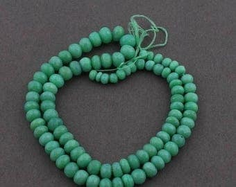 Valentines Day 1 Strand Chrysoprase Faceted Rondelles - Chrysoprase Roundles Beads 5mm-7mm 18 Inches long SB3795