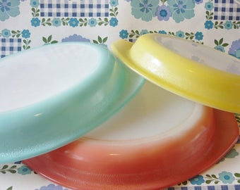 Three Agee Pyrex Pie Dishes