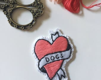 I Heart Dogs Patch
