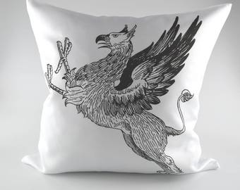 Beautiful Decorative Vintage Style Shabby Chic Griffin Cushion Cover