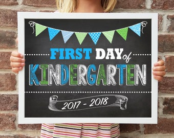 "Kindergarten, Back to School Poster, DIGITAL Printable File, FIRST Day & LAST Day includ. 4 Sizes: 8x10"", 11x14"", 16x20"", 20x30"" includ."