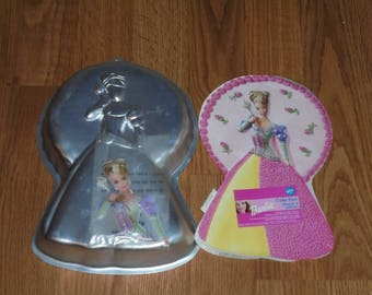Wilton Barbie Doll Princess Cake Pan Mold, Face Plate & Color Insert Included