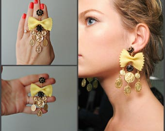 Earrings Dolce style - Pasta  party
