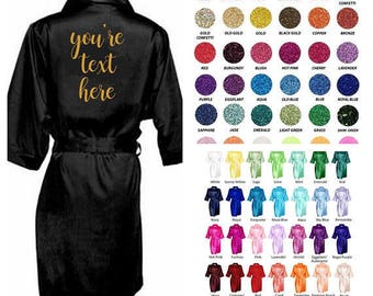 Personalized Wedding Robe, Personalized Robe, Personalized Bridal Party Robes, Personalized Bridesmaid Robe, Personalized Bride Robe