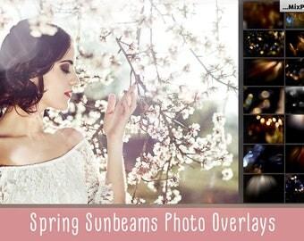 Sunbeams, spring, sunlight, flare, photoshop overlays, natural sun, photography effects, add sunlight actions, Sun rays, wedding