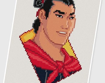 PDF Cross Stitch pattern - 0047.General Li Shang ( Mulan ) - INSTANT DOWNLOAD
