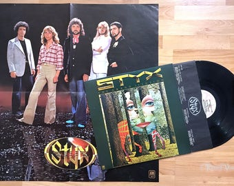 STYX - The Grand Illusion (1977) Vinyl LP + POSTER  Come Sail Away