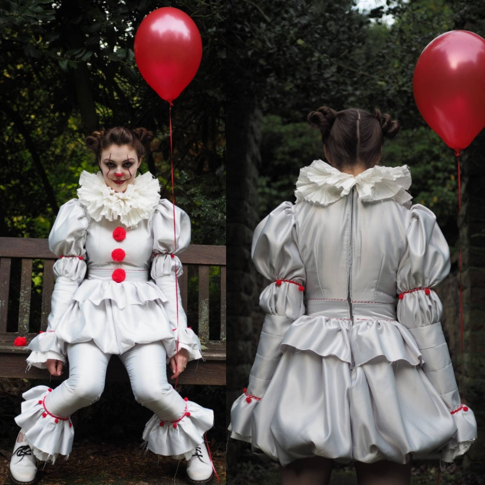 pennywise costume dress with pants it 2017 clown costume. Black Bedroom Furniture Sets. Home Design Ideas