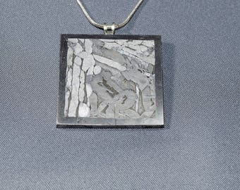 Seymchan Meteorite Necklace for Men Sterling Silver Stardust Space Astronomy Science Jewelry Birthday Anniversary Father's Day Gift for Him