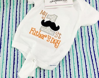 First FATHER's day BOY bodysuit