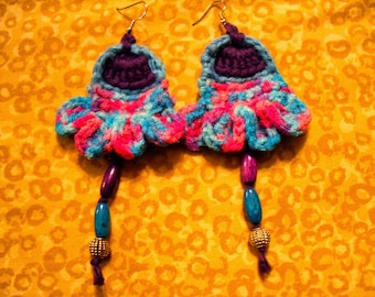 Dusk Bells - Handmade Earrings by Ansley Jukeboxx Joye