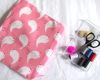 sewing travel kit sewing kit pink mini sewing bag pink bird sewing kit