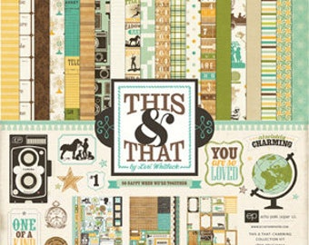 Echo Park Paper This & That Charming 12 by 12-Inch Collection Kit