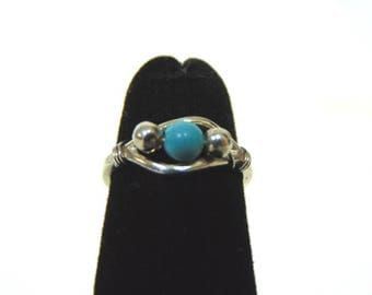 Womens Vintage Estate .925 Sterling Silver Toe Ring 1.4g, E3189