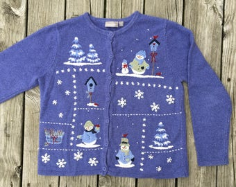 Vintage Ugly Christmas Holiday Sweater