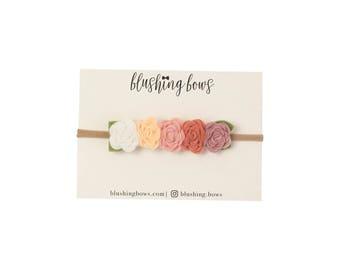 Felt Flower Headband, Felt Flower Crown- Fall