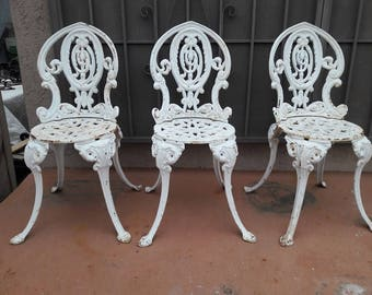 Victorian Cast Iron Figural Chairs