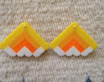 Yellow Cloud Earrings