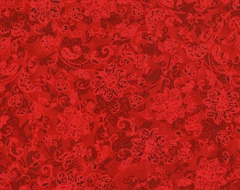 RJR's Merry Berry Bright Fabric Red Tonal
