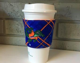 Coffee Cup Cozy, Cup Wrap, Coffee Cuff - UF - Gators