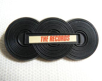 Vintage 80s The Records - British Power Pop Band -  Pin / Button / Badge