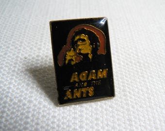 Vintage 80s Adam Ant - Adam and the Ants Enamel Pin / Button / Badge