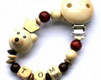 Personalized pacifier baby clip