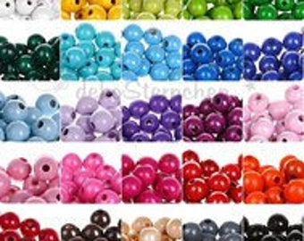 Wooden round beads 12 mm (bag of 30 beads)