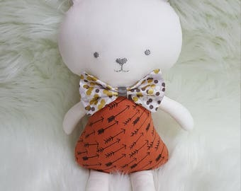 Bunny.  Rabbit.  Softie.  Toy.  Handmade.