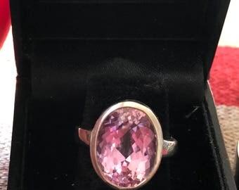 Stunning Kunzite Ring set in Sterling Silver