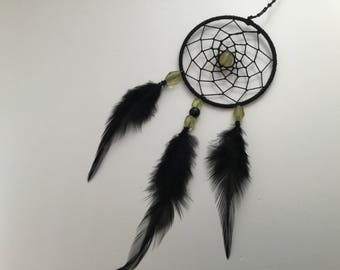 Beautiful dream catcher with sea green color glass beads