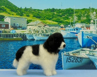 NEWFOUNDLAND/ NEWFIE  Dog- LANDSEER  Custom markings. No extra charge..  Needle felted from photographs.Unique Gift /Memorial