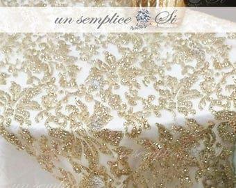 Glitter Tulle Table Cloth, Glitter Tulle Overlay, Beaded Overlay, Glitter  Tulle Runner,