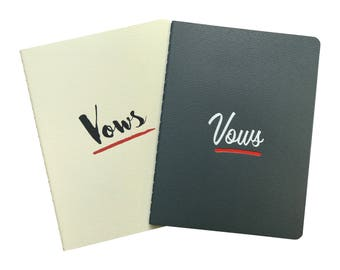 His & Hers Wedding Vow Book Notebooks - Letterpress Keepsake for Wedding Vows - Great Engagement or Wedding Gift!