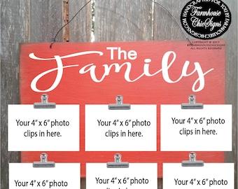 family, family sign, family photo holder, family picture frame, family decor, family wall art, family wall decor, family decoration
