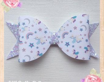 Unicorn hair bow, Unicorn bow, Hair bow, Glitter bow, Bows, Unicorn accessories, Cute hair bows, Handmade hair bows, Summer hair bows