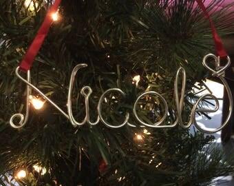 Christmas gift,Baby's first Christmas ,Nicole ornament,Personalized Ornament,Christmas ornament