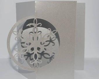 Snowflake Christmas card silver