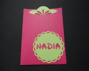 Birth - theme bag tag nadia announcements