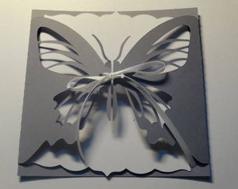 Wedding invitation - Butterfly lace theme